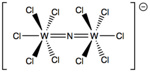 Metal nitrido complex - Image: W2NCl 10 anion