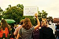 WASHINGTON, DC -- August 14 2017- Protesters gather outside the White House to rally against white supremacy. (35766547953).jpg