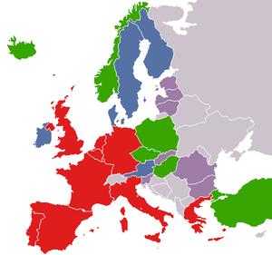 Batı avrupa birliği haritası