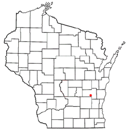 Location of Byron, Wisconsin