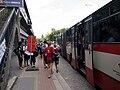 WUCC 2010, Strahov, nástup na bus, odjezd.jpg