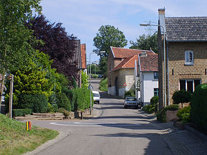 Limburg (Netherlands) - View of a typical street in a hilly South-Limburgian village or hamlet; here at Walem in the municipality of Valkenburg aan de Geul