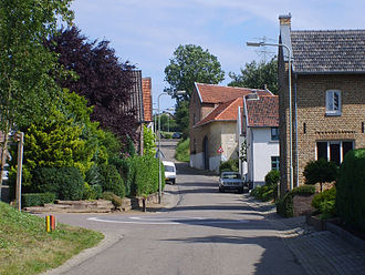 Limburg (Netherlands) - View of a typical street in a hilly South-Limburgian hamlet; here in Walem