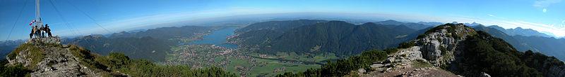 Panorama Tegernseer Tal vom Wallberg