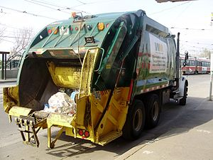 Waste Management (corporation) - A Waste Management trash collection truck in Toronto, Ontario.