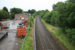 Semley railway station - Semley station site in 2010