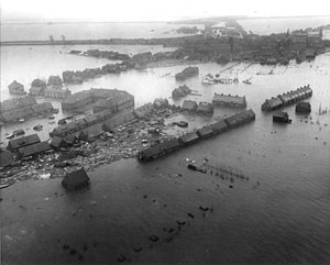 North Sea flood of 1953 - Image: Watersnoodramp 1953