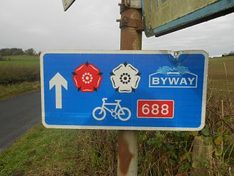 Way of the Roses - Image: Way of the roses sign route 688