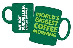 English: World's Biggest Coffee Morning Logo
