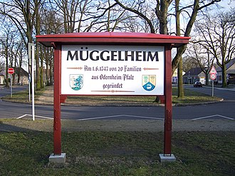 Müggelheim - Image: Welcome board of Berlin Müggelheim