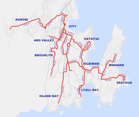 Wellington trolleybus routes