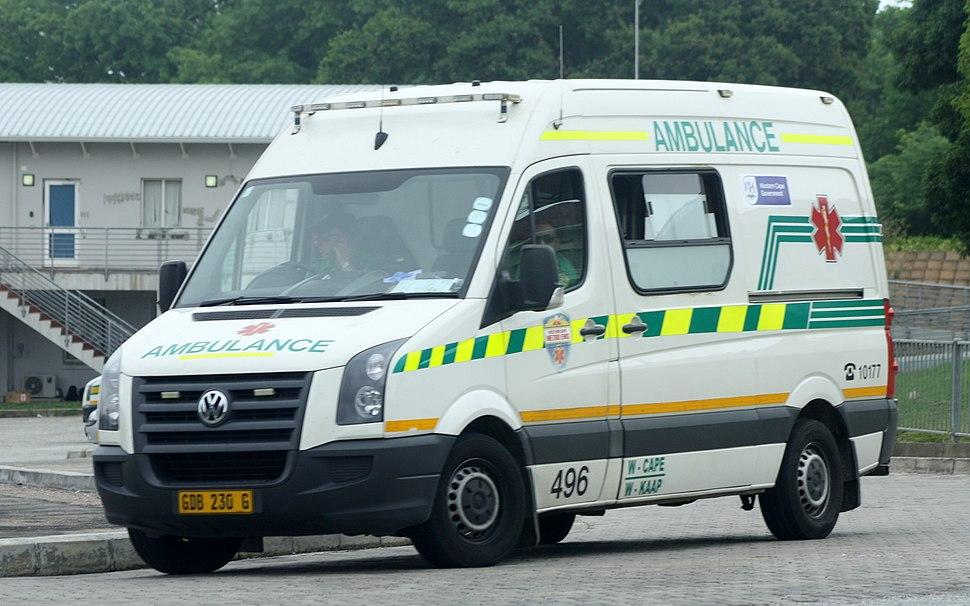 Western Cape Metro EMS Volkswagen Crafter TDI ambulance (15044370343)