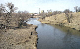 Der Whetstone River in der Nähe von Big Stone City, Grant County, South Dakota