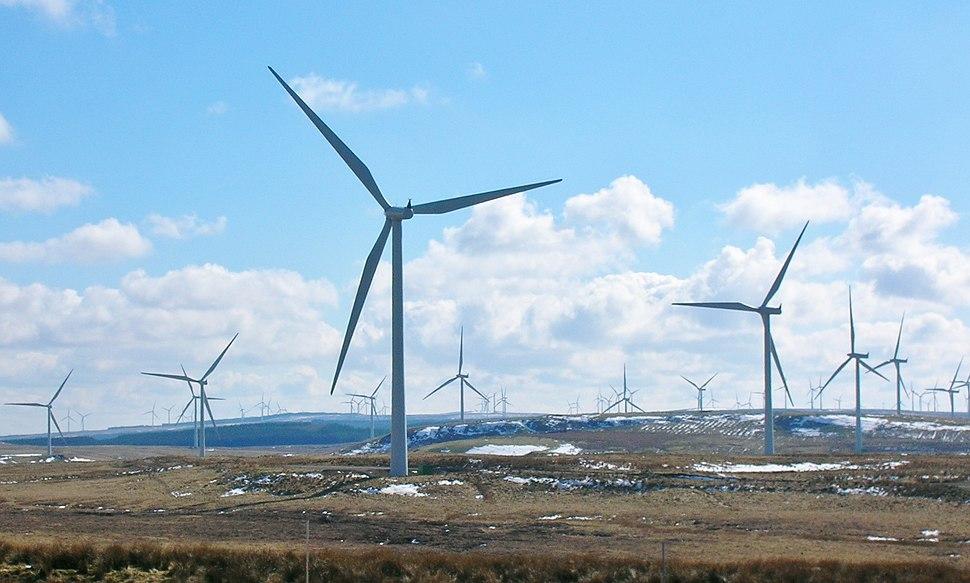 Whitelee - Wind turbines - looking south