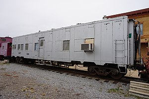 Troop sleeper - Image: Wichita Falls Railroad Museum October 2015 03 (Missouri–Kansas–Tex as troop sleeper No. 100261)