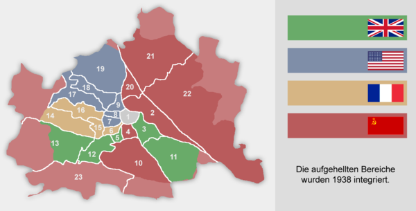 Occupation zones in Vienna, 1945-55 Wien Besatzungszonen.png