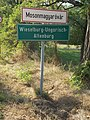 Wieselburg-Ungarisch Altenburg sign, 2017 Mosonmagyaróvár.jpg