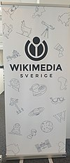 Wikimedia Sverige roll up, white.jpg