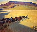 Wild Horses of Nevada by Maynard Dixon, 1927.jpg
