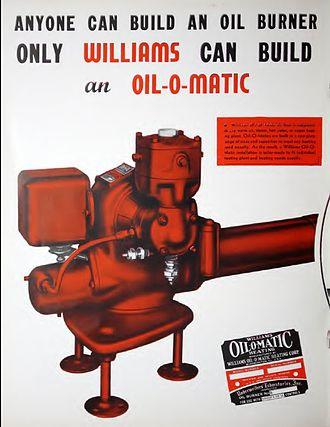 Eureka (company) - Williams Oil-O-Matic heater, shown in a company catalogue.