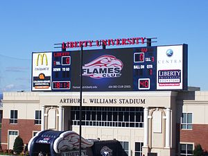 Williams Stadium - Williams Stadium after the construction of its new scoreboard