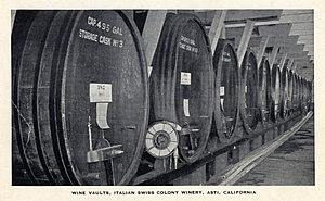 Italian Swiss Colony (wine) - Wine vaults, around 1940