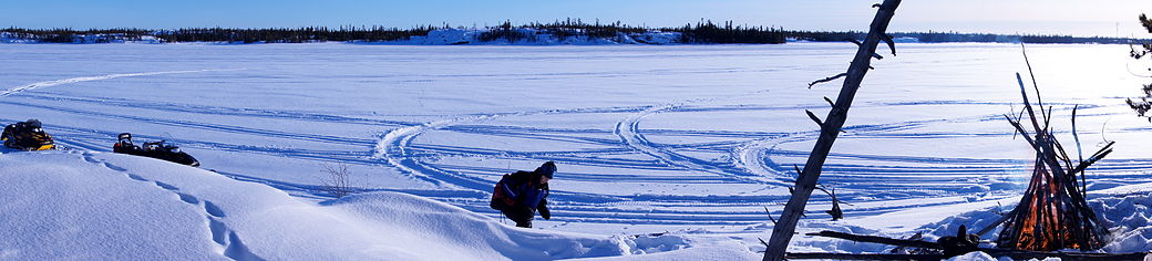 Winter Picnicking, Martin Lake, NWT.JPG