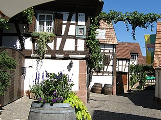 "German Wine Route -  ""Winzergasse"" (Wine Alley) in Gleiszellen-Gleishorbach (South Palatinate)"