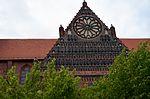 Wismar, St. Nikolai, Spitzgiebel mit Rosette.JPG