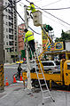 Workers Renewal Traffic Sign in Yuchen Street, Taipei 20141220.jpg