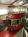 Workshop Viewing Gallery and Exhibition - National Tramway Museum - Crich - London Transport 1 (15196214969).jpg