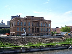 The World Food Prize Hall Of Laureates Formerly Des Moines Public Library On Western Bank River In Downtown Iowa