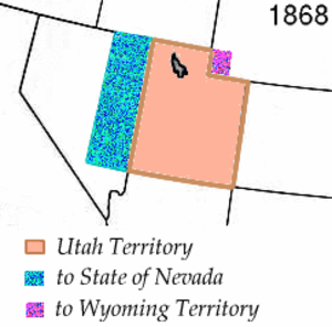37th meridian west from Washington - The territorial change which created the boundary usage of the meridian