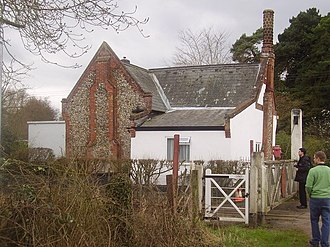 Wymondham - Flint was used in many types of buildings around Wymondham, including this 19th-century Crossing Keeper's hut