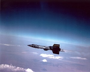 Sub-orbital spaceflight - The X-15 (1958–68) would lift itself to an altitude of approximately 100 km and then glide down.