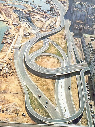 Interchange (road) - Image: XHT 1970s