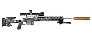 .300 Winchester Magnum - M2010 Enhanced Sniper Rifle reconfigured M24 Sniper Weapon System chambered in .300 Winchester Magnum.