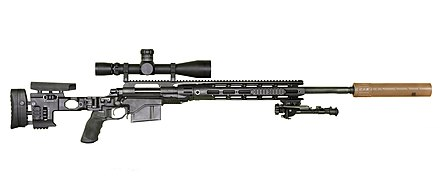 M24E1/XM2010 reconfigured Sniper Weapon System chambered in .300 Winchester Magnum. XM2010 November 2010.jpg