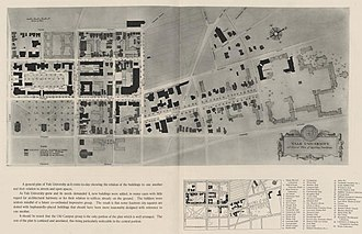 John Russell Pope - Pope's overall plan for the building of the Yale University campus, 1919