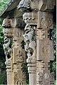 Yali pillars in a dilapidated mantapa at Melkote.jpg