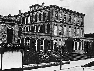 Tampa, Florida - Ybor's first cigar factory c. 1900