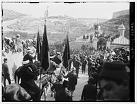 Yorkshire Band with the Nebi Musa procession, April 2nd, 1920 LOC matpc.00744.jpg