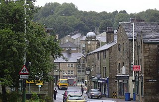 Bacup town in England