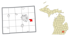 Location within Washtenaw County