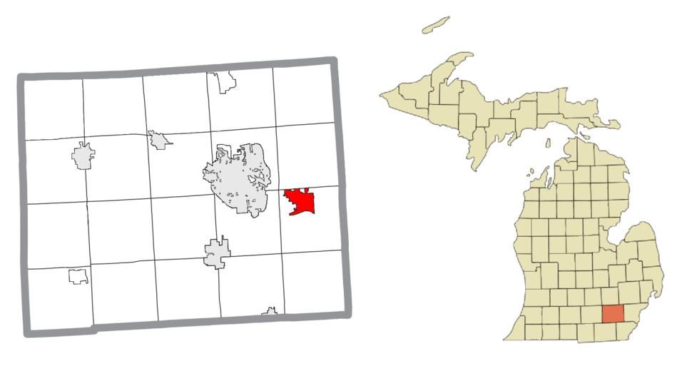 Location within Washtenaw County