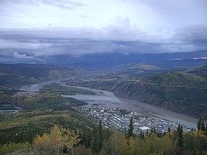 Tr'ochëk - Tr'ochëk, shown just above Dawson City