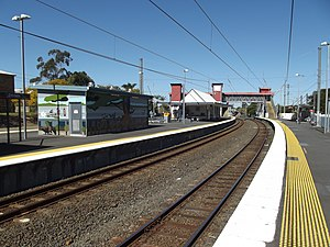 Zillmere railway station - Southbound view from Platform 3 in August 2012