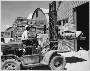 Forklift - A forklift truck being used during World War II
