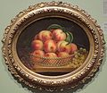 'Peaches and Grapes' by an unidentified American artist, c. 1870, oil on canvas, Dayton Art Institute.jpg