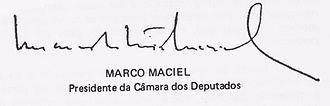 Marco Maciel - Image: (Marco Maciel) Presidente da Câmara dos Deputados do Brasil